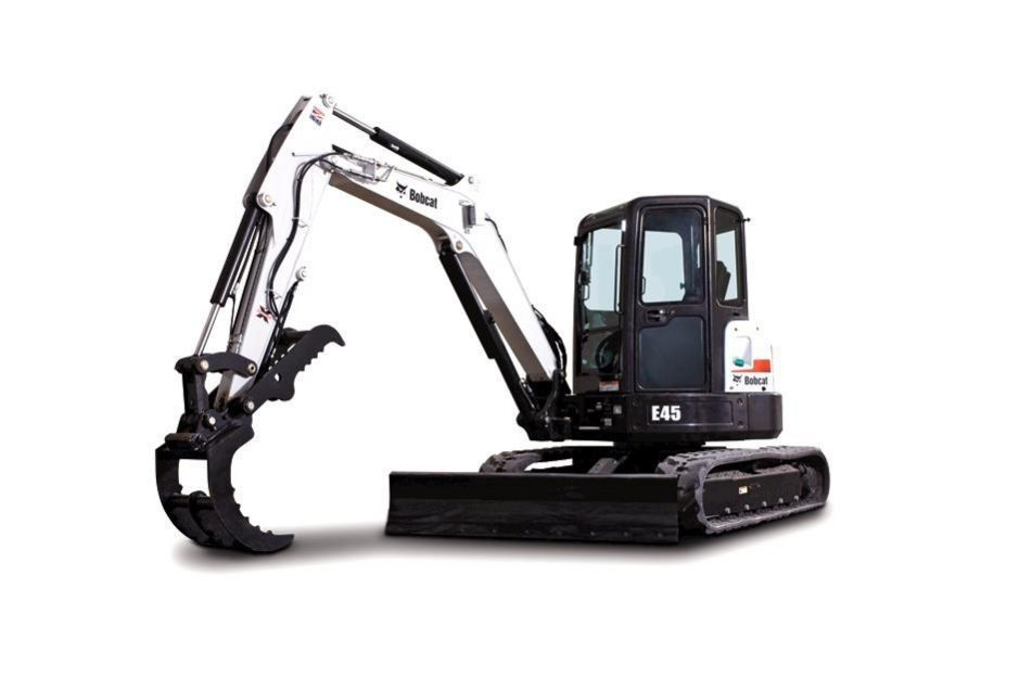 New Bobcat E45 Compact Excavator (Extendable Arm)